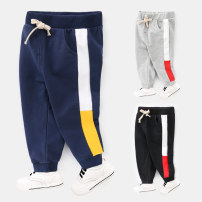 trousers Righteuro male 90cm,100cm,110cm,120cm,130cm spring and autumn trousers motion No model Sports pants Tether middle-waisted Cotton blended fabric Don't open the crotch Cotton 98.4% polyurethane elastic fiber (spandex) 1.6%