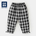 trousers Righteuro male 90CM,100CM,110CM,120CM,130CM Black and white, style 1, black and white, second batch of black and white pre-sale spring and autumn trousers leisure time No model Casual pants middle-waisted U12844 2, 3, 4, 5, 6, 7, 18 months