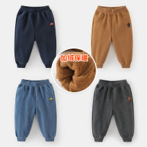 trousers Righteuro male winter trousers leisure time No model Plush trousers Leather belt middle-waisted Cotton blended fabric Don't open the crotch 2, 3, 4, 5, 6, 7, 18 months