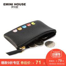 wallet Европа и Америка кожа EMINI HOUSE / Emini темно - серый серый новый молния женщина Чистый цвет Сечение молодежи 1 раз G6121213 Изменение позиции