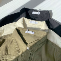 short coat Spring 2021 Average size Black, apricot, green Long sleeves routine routine singleton  easy commute shirt sleeve Polo collar Single breasted Solid color 18-24 years old 51% (inclusive) - 70% (inclusive) Pocket, button cotton cotton
