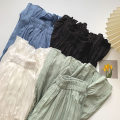 skirt Spring 2021 Average size Black, white, blue, light green Mid length dress commute High waist A-line skirt Solid color Type A 18-24 years old More than 95% other polyester fiber Elastic waist Korean version