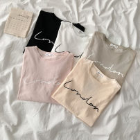 T-shirt Average size Summer 2021 Short sleeve Crew neck easy Regular routine commute cotton 96% and above 18-24 years old Korean version
