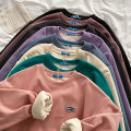 Sweater / sweater Spring 2021 Purple, blue, dark gray, green, black, apricot, pink, dark purple Average size Long sleeves routine Socket singleton  thickening Crew neck easy commute Wrap sleeves Solid color 18-24 years old 51% (inclusive) - 70% (inclusive) Korean version cotton thread cotton