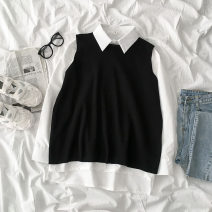 Fashion suit Autumn 2020 Average size Black vest, white shirt 18-25 years old 96% and above polyester fiber