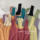 Vest sling Spring 2021 Black, apricot, orange, light purple, white, lake blue, purple pink, light yellow, light pink, fruit green, rose pink Average size singleton  have cash less than that is registered in the accounts Self cultivation commute straps Solid color 18-24 years old 96% and above