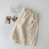 Casual pants Apricot Average size Spring 2021 shorts Wide leg pants High waist commute routine 18-24 years old 51% (inclusive) - 70% (inclusive) cotton Korean version pocket cotton
