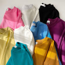 Sweater / sweater Spring 2021 Sky blue, rose red, purple red, black, off white, gray, mango yellow, mustard yellow, blue-green Average size Long sleeves routine Socket singleton  routine Crew neck easy commute Wrap sleeves Solid color 18-24 years old 51% (inclusive) - 70% (inclusive) Korean version