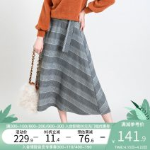 skirt Winter of 2019 S,M,L houndstooth  Mid length dress commute A-line skirt houndstooth  Type A 25-29 years old QA15095Q other Artka other