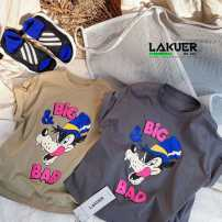 T-shirt Other / other neutral summer Short sleeve Crew neck Korean version There are models in the real shooting nothing cotton Cartoon animation D15 Class A 3, 4, 5, 6, 7, 8, 9, 10, 11, 12, 13, 14, 14 and above