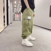 trousers Other / other male 120cm / 120, 130cm / 130, 140cm / 140, 150cm / 150, 160cm / 160, 170cm / 170 Order, khaki, green spring and autumn trousers solar system There are models in the real shooting Casual pants Leather belt middle-waisted Cotton blended fabric Don't open the crotch -- --