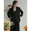 Fashion suit Spring 2021 S,M,L Black suit, black strap skirt, white shirt 18-25 years old LOVEHEYNEW D32k-z2240 girls' suit