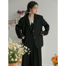 Fashion suit Spring 2021 S,M,L Black suit, black strap skirt, white shirt 18-25 years old LOVEHEYNEW D32k-z2240 girls' suit