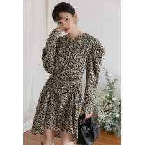 Dress Spring 2020 Black, apricot S, M longuette singleton  Long sleeves commute other middle-waisted other routine Others 18-24 years old LOVEHEYNEW Korean version Xcc23k-100 small floral pleated skirt 81% (inclusive) - 90% (inclusive) other other
