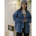 short coat Spring 2021 S,M,L Beixing, dumb black, plain blue Long sleeves routine routine singleton  easy routine stand collar Single breasted Solid color 18-24 years old LOVEHEYNEW D32k-jw249 box bag jacket cotton cotton