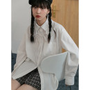 shirt White, light blue S,M,L Spring 2021 other 71% (inclusive) - 80% (inclusive) Long sleeves commute Regular Single row multi button routine Solid color 18-24 years old Straight cylinder LOVEHEYNEW Korean version D32k-z2265 detachable collar shirt