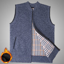 Vest / vest Fashion City Others 165 (recommended 100-120 kg), 170 (recommended 120-135 kg), 175 (recommended 135-150 kg), 180 (recommended 150-165 kg), 185 (recommended 165-185 kg), 190 (recommended 185-200 kg) Other leisure easy Woolen vest Plush and thicken stand collar middle age 2018 Solid color