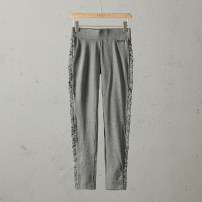 Casual pants Black / G + American high elastic stitching leggings, gray / G + American high elastic stitching leggings, military green / G + American high elastic stitching leggings US:XS(26-27),US:S(27-28),US:M(28-29),US:L(30-31),US:XL(31-32) Spring of 2019 trousers B4311-MC190157 Max Coopy