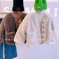 Plain coat Other / other female Size 5, recommended height 90cm, size 7, recommended height 100cm, size 9, recommended height 110cm, size 11, recommended height 120cm, size 13, recommended height 130cm Off white, brown winter No model thickening nothing other other