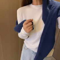 T-shirt Average size Spring 2021 Long sleeves Crew neck Self cultivation Regular routine commute cotton 30% and below 25-29 years old Simplicity Solid color Other / other