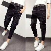 Jeans Autumn 2016 trousers low-waisted loose  routine 18-24 years old other Dark color Other / other
