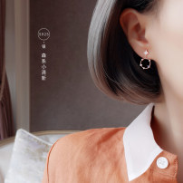 Ear Studs Silver ornaments 51-100 yuan Da Le Liang pin Silver price rose gold price brand new Japan and South Korea female goods in stock Fresh out of the oven Silver inlaid gems other 925 Silver