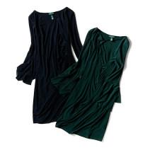 Dress Winter of 2018 6,8,10,12,14 Mid length dress singleton  Long sleeves Crew neck High waist Socket pagoda sleeve 40-49 years old 91% (inclusive) - 95% (inclusive)