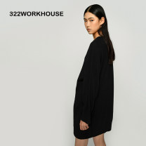 Dress Winter 2020 Black, natural rock white, other custom colors S,M,L Middle-skirt singleton  Long sleeves commute Crew neck middle-waisted Solid color Socket other raglan sleeve Others 35-39 years old Type H WORKHOUSE Simplicity 0C2CT40A579 More than 95% Cashmere Cashmere