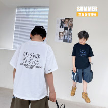 T-shirt White, black Other / other 130, 140, 150, 160, 170 male summer Short sleeve Crew neck Korean version There are models in the real shooting nothing cotton other Cotton 95% other 5% XHQ12TX1256 Class B other Chinese Mainland Guangdong Province Guangzhou City