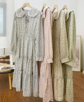 Dress Spring 2021 Yellow, blue, green, pink M,L,XL Long sleeves Sweet other 25-29 years old D.SIXTH 30% and below other