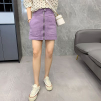 skirt Summer 2020 M,L,XL Purple, white Short skirt 25-29 years old D.SIXTH