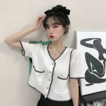 Wool knitwear Spring 2021 Average size Black, white Short sleeve singleton  Socket other 30% and below Regular routine commute easy routine Socket 25-29 years old D.SIXTH