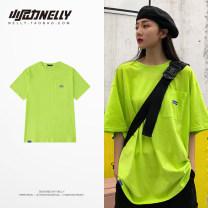 T-shirt Youth fashion Fluorescent green, orange routine M,L,XL LAY LOW Short sleeve Crew neck standard Other leisure summer BF4109TQ-002 Cotton 100% teenagers routine Hip hop 2021 other cotton Designer brand
