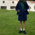 skirt Autumn 2020 S,M,L navy blue Short skirt High waist Denim skirt Solid color Type H Denim Other / other cotton pocket
