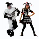 Clothes & Accessories Many Beijing stores Adult men's one size fits all, adult women's one size fits all, lovers' suits, black and white clown shoe covers Halloween lovers Movie characters halloween costume  nothing