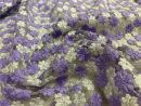 Fabric / fabric / handmade DIY fabric Netting violet Loose shear rice Geometric pattern jacquard weave clothing Europe and America