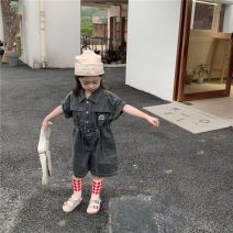 trousers Other / other neutral summer shorts Korean version Jumpsuits There are models in the real shot Button cotton 123323 12 months, 18 months, 2 years old, 3 years old, 4 years old, 5 years old, 6 years old, 7 years old Black grey 80cm,90cm,100cm,110cm,120cm,130cm,140cm