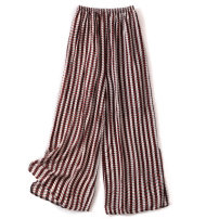 Casual pants Bohemia Summer 2021 trousers Wide leg pants Natural waist Versatile 96% and above Other / other silk silk