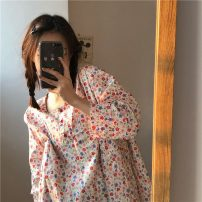 Dress Spring 2021 Graph color Average size Mid length dress singleton  Long sleeves commute 18-24 years old Korean version