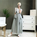 Dress Spring 2021 Black, gray M, L longuette singleton  commute other High waist Solid color A-line skirt camisole 25-29 years old Type A Korean version 71% (inclusive) - 80% (inclusive) other cotton