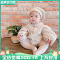 Jumpsuit / climbing suit / Khaki Other / other Class A currency Beige reservation, grey reservation, beige stock S (height 55-65), m (height 65-75), l (height 75-85) other spring and autumn Long sleeves Trigonometry Socket Climbing suit 3 months, 6 months, 12 months, 18 months