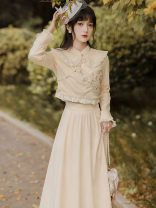 Cosplay women's wear Other women's wear goods in stock Over 14 years old Two piece cream apricot set comic S,M,L Other See description
