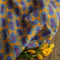 Fabric / fabric / handmade DIY fabric hemp Qingna half rice price Loose shear rice Geometric pattern printing and dyeing clothing Chinese style Cloth bag
