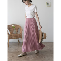 skirt Autumn of 2019 36,38,40 Off white, butter, pink purple
