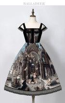 Lolita Dress dark grey S,M,L,XL Customized balladeer Chiffon