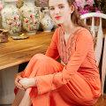 Dress Summer 2021 Dark Navy, pink orange 34 S-100, 36-m-110, 38 l-120, 40 xl-135 Mid length dress singleton  Nine point sleeve V-neck zipper Embroidery L00233/0457 More than 95% Crepe de Chine silk