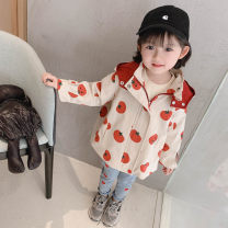 Plain coat Other / other female 80cm,90cm,100cm,110cm,120cm,130cm gules spring and autumn Korean version Zipper shirt There are models in the real shooting thickening No detachable cap Cartoon animation Cotton blended fabric Crew neck (model number c21093) tomato sweater Other 100%