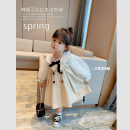 Dress Khaki female Little elephant Other 100% spring and autumn princess Long sleeves Solid color cotton Splicing style Two, three, four, five, six, seven, eight, nine