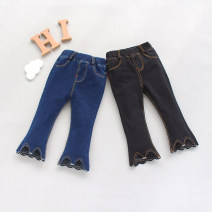 trousers Other / other female The recommended height is 80cm for size 6 of 80cm, 85CM for size 8 of 85CM, 90cm for size 10 of 90cm, 95cm for size 12 of 95cm, and 100-105cm for size 14 of 100cm Dark blue, black - stock spring and autumn trousers Korean version No model Jeans Leather belt cotton K055