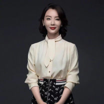 skirt Spring 2021 S,M,L,XL printing Middle-skirt commute High waist A-line skirt Solid color Type A 25-29 years old AJ21040207 51% (inclusive) - 70% (inclusive) brocade Edgar polyester fiber zipper Korean version 61G / m ^ 2 (including) - 80g / m ^ 2 (including)